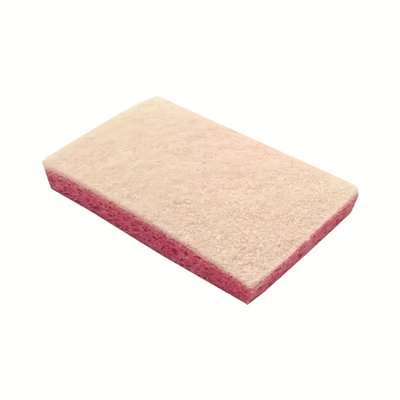 130600: Schuurspons cellulose - 14 x 9 cm - ROOS/WIT