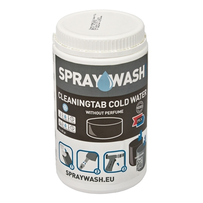 370226: SprayWash CleaningTab Cold Water - pot 12 stuks