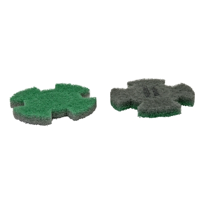 444321: I-MOP XL set 2 Twister pads GROEN